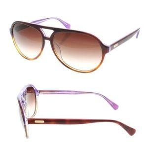 Coach plum tortoise aviator sunglasses
